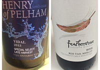 Wine Review January 17 – 2013 Henry of Pelham Special Select Late Harvest Vidal – 2012 Featherstone Red Tail Merlot