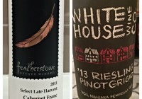 Wine Review February 14 – 2013 White House Wine Co. Riesling/Pinot Grigio – 2011 Featherstone Select Late Harvest Cabernet Franc