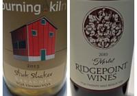 Wine Review February 21 – 2013 Burning Kiln Stick Shaker Savagnin – 2010 Ridgepoint Merlot