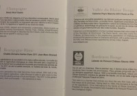 Air France Wine List