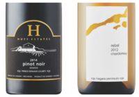 2012 16 Mile Rebel Chardonnay – 2014 Huff Reserve Pinot Noir