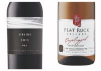 2015 Flat Rock Unplugged Chardonnay – 2012 Stratus Red