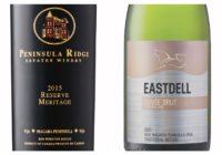 2011 Eastdell Cuvée Brut – 2015 Peninsula Ridge Reserve Meritage