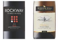 2015 Rockway Vineyards Red – 2014 Mission Hill Reserve Pinot Gris