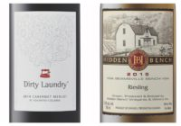 2015 Hidden Bench Estate Riesling – 2014 Dirty Laundry Cabernet/Merlot