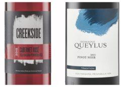2013 Domaine Queylus Tradition Pinot Noir – 2016 Creekside Cabernet Rosé