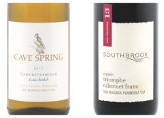 2013 Cave Spring Estate Bottled Gewurztraminer – 2015 Southbrook Triomphe Cabernet Franc