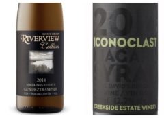 Wine Review – 2014 Iconoclast Syrah – 2014 Riverview Angelina's Reserve Gewurztraminer