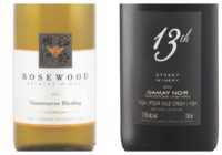 Wine Review – 2016 Rosewood Sussreserve Riesling – 2014 13th Street Sandstone Vineyard Gamay Noir