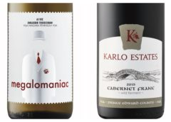 Wine Review – 2015 Karlo Cabernet Franc – 2016 Megalomaniac Narcissist Riesling